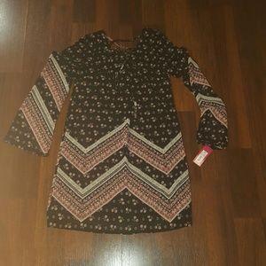 Xhilaration long sleeve dress NWT